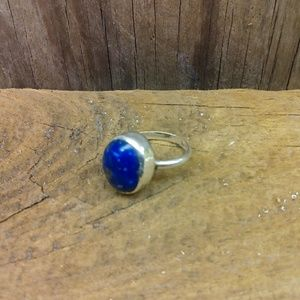 Hand crafted womens sterling silver rimg